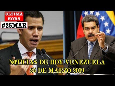 ULTIMAS NOTICIAS VENEZUELA 25 MARZO 2019 - El último intento de Maduro por ganar el Guaidó.