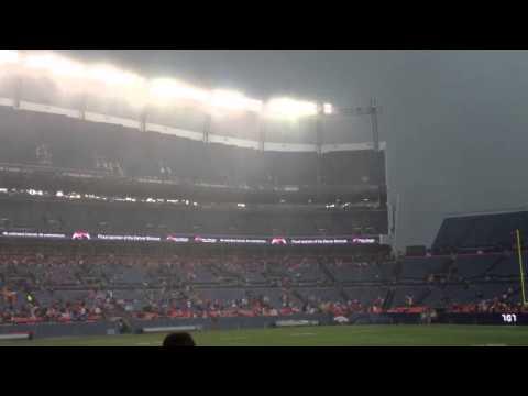 2013 Denver Broncos summer scrimmage downpour