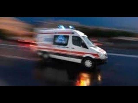 112 Acil Ambulansla Trafik Kazasına Gidiyoruz