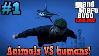 GTA Online Animals VS humans! #1