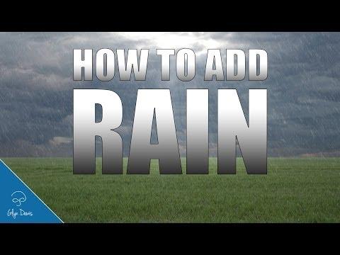 PHOTOSHOP TUTORIAL: How to add RAIN #43