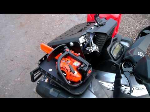 Вынос радиатора на квадроцикл и багажник.