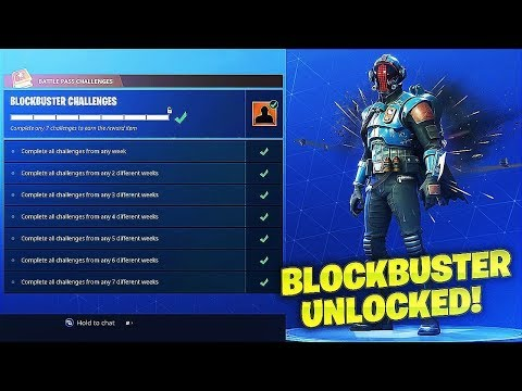 How To Unlock *NEW* Blockbuster Skin On Fortnite! (Week 7 Challenges Complete)