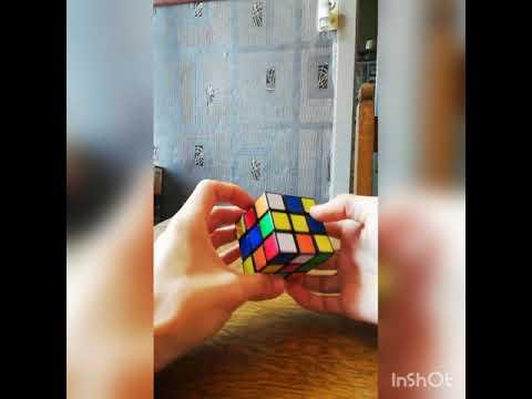 Rubik's cube 3x3 CFOP method - 1:30 (2 weeks practice)