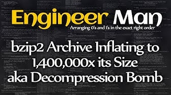 bzip2 Archive Inflating to 1,400,000x its Size aka Decompression Bomb