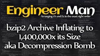 bzip2 Archive تضخيم إلى 1,400,000 x حجمه الملقب الضغط قنبلة