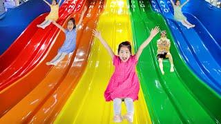 미끄럼틀을 많이 타면? 서은이의 뽀로로 테마파크 미끄럼틀 미로찾기 방탈출하기 Pororo Theme Park