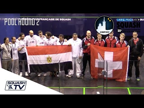 Squash: Egypt v Switzerland - Men's World Team Champs 2017 - Pool Rd 2