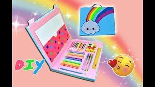 DIY.Папка-органайзер для канцелярии своими руками.Набор для рисования/Hand made.Back to school.
