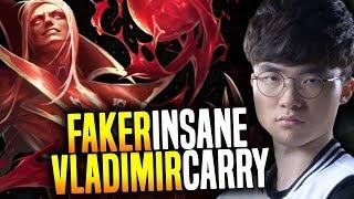 Faker Insane Vladimir Hard Carry! - SKT T1 Faker SoloQ Playing Vladimir Midlane!   SKT T1 Replays thumbnail