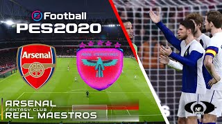 PES 2020 Gameplay | Arsenal vs. Real Maestros