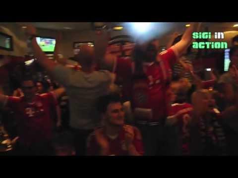 Mega Party FC Bayern Fans feiern den Sieg Champions League Final 2013 @ Leopoldstrasse