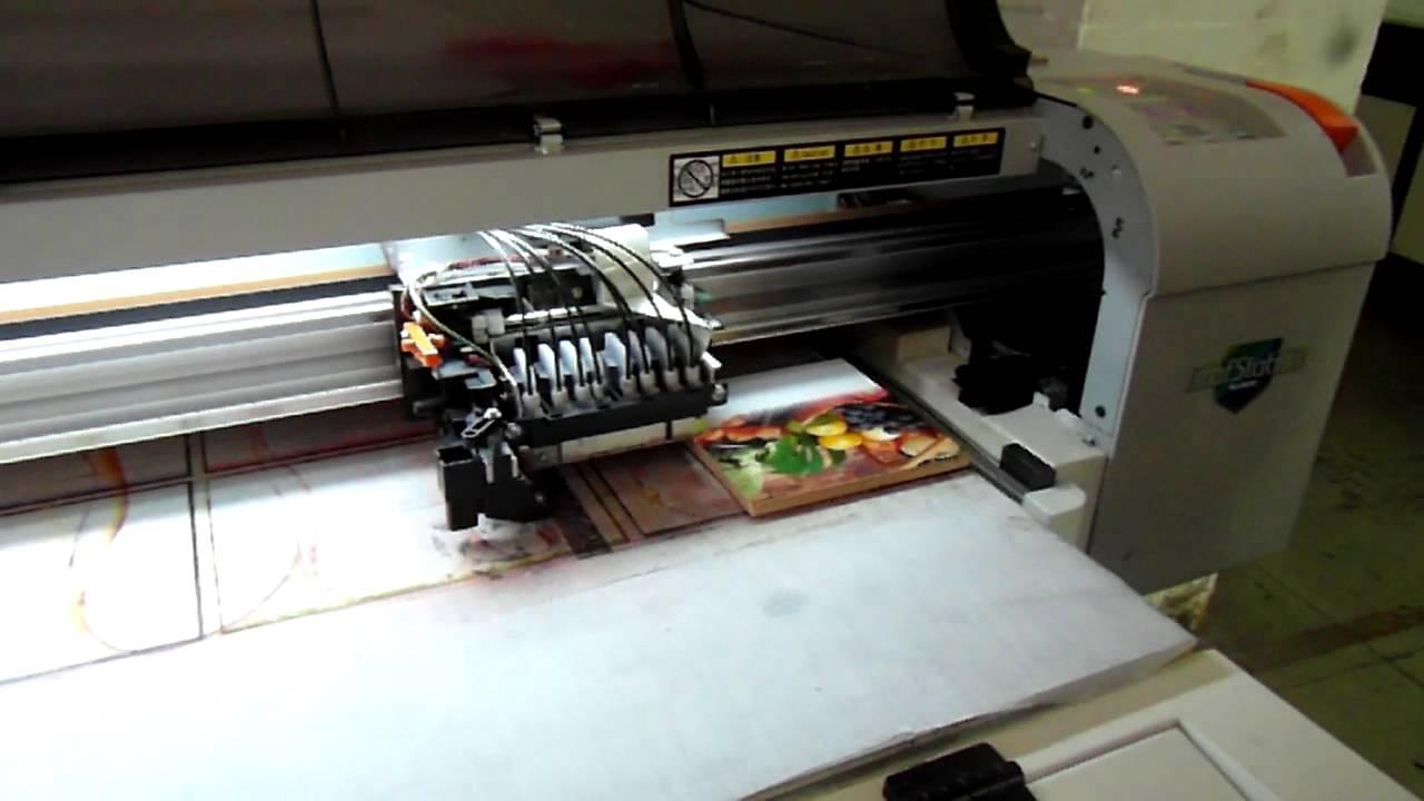 Printing On Wood Board Youtube