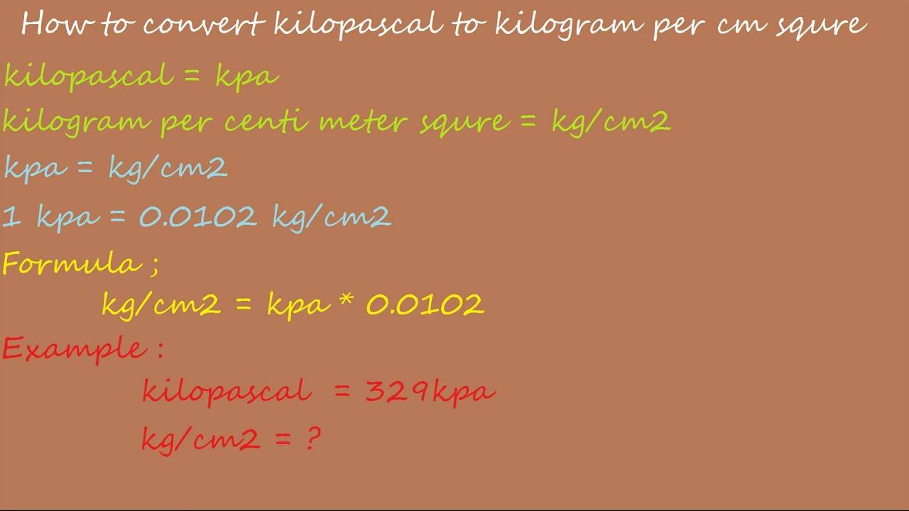 psi to kpa chart pdf