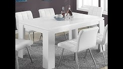 monarch specialties white hollow core dining table 36 x 60 inch