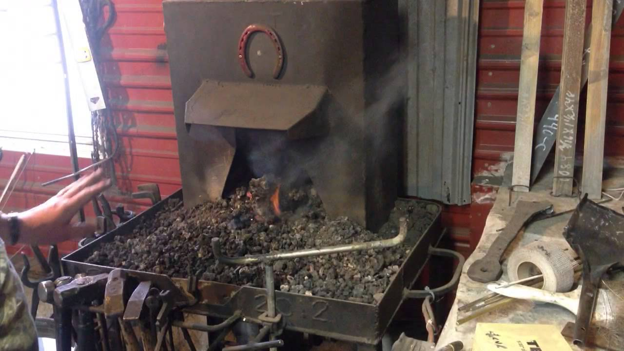 how to build a coal forge blacksmithing