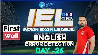 SBI CLERK PRE 80 Day Study Plan - Error Detecti...