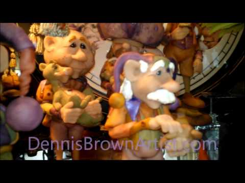 Dennis-Brown-Artist-Whimsical-figurines.wmv