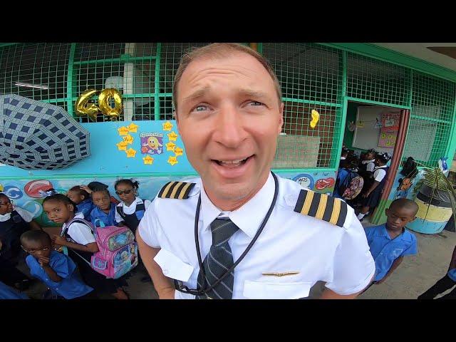 Pilots life - DID I EVER CRASH A PLANE? I am giving a speech in a Caribbean school