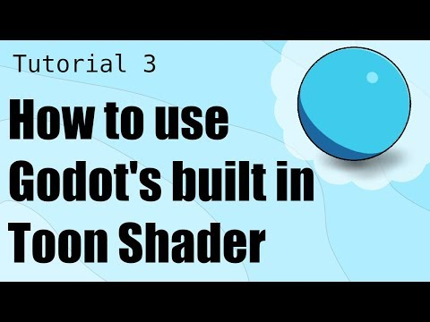 How To Use Godot's Built-in Toon Shader | Game Dev Tutorial 3