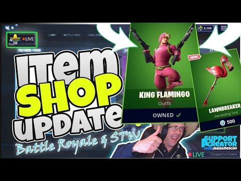 🌴menamescho's-live-🔵-*new*-king-flamingo-👑-item-shop-update-fortnite-battle-royale-5th-july-2019