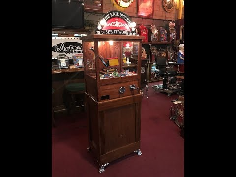 Contemporary THE ERIE DIGGER Crane Claw Prize Arcade Machine FOR SALE $3,795