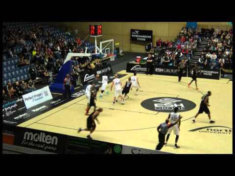 Jamal Williams (14 in WHITE) Worcester Wolves vs. Newcastle - Part 1