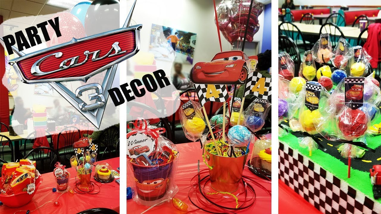 DISNEYS CARS 3 BIRTHDAY PARTY DECOR