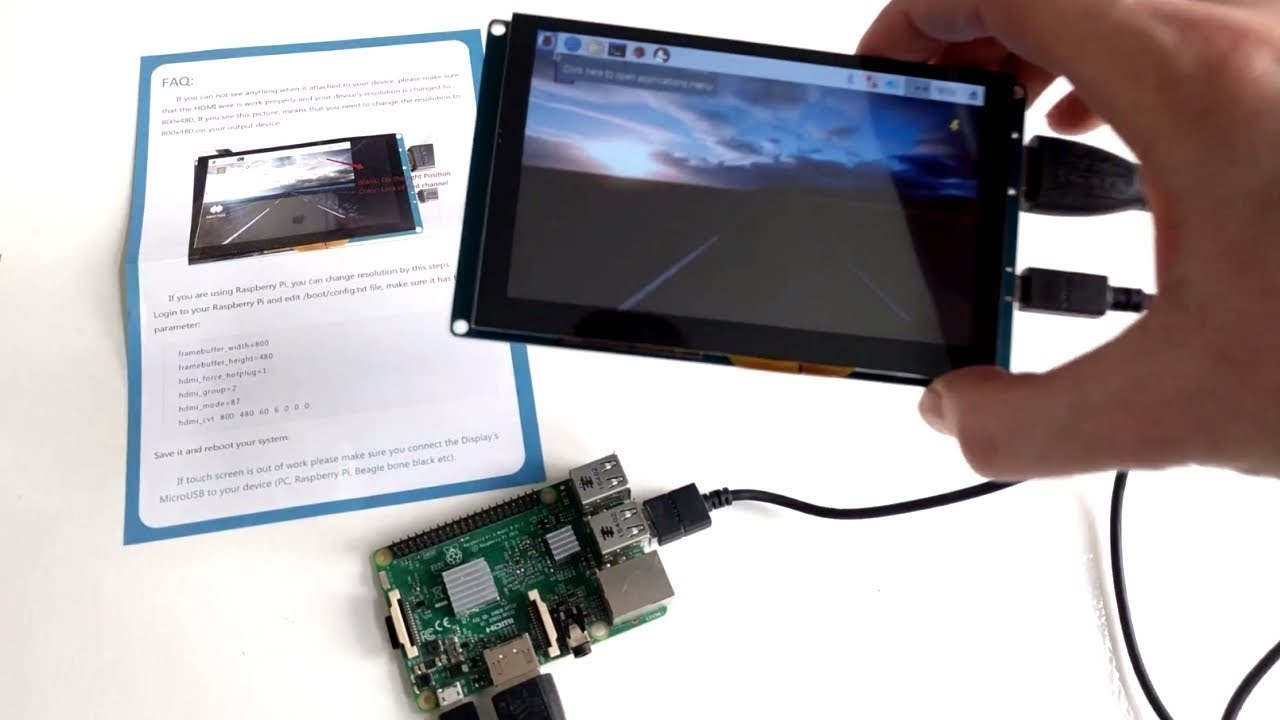 No Driver Needed 5 Inch Raspberry Pi Capacitive Touch Screen