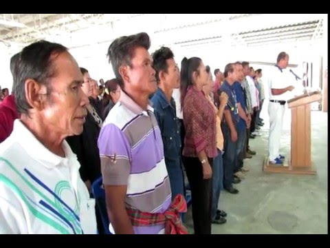 พิธีปฏิญาณสาบานตน หมู่บ้านบุรีรัมย์สันติสุข 9 ดี ต.สะแกโพรง 18 ก.พ.2559