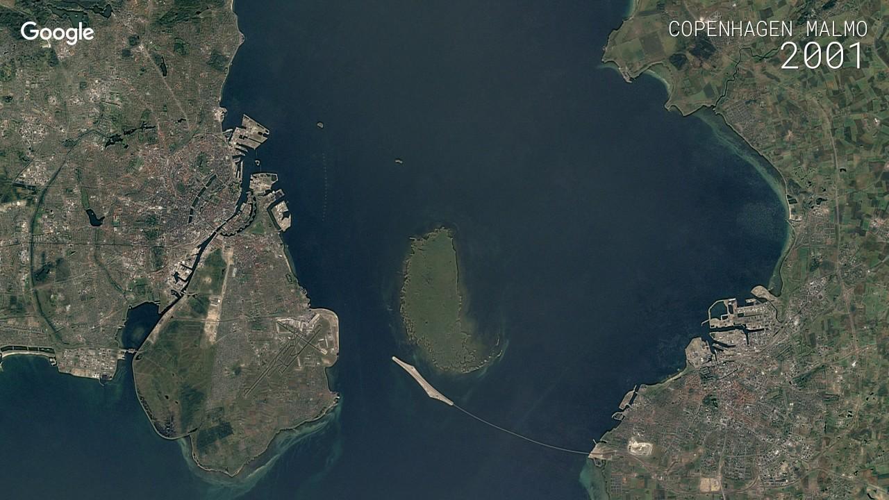Google Timelapse: Copenhagen and Malmo