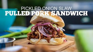 Pulled Pork Sandwich With Pickled Onion Slaw