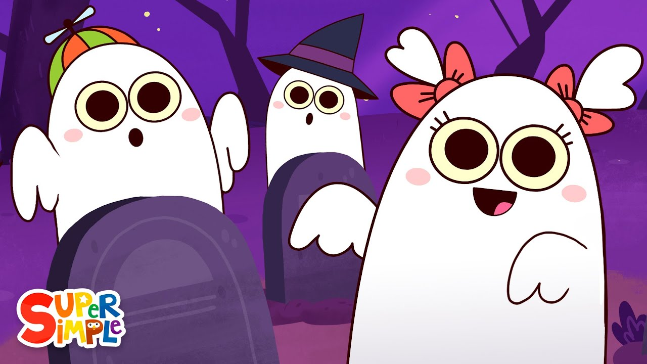 Six Little Ghosts | Halloween Song for Kids | Super Simple Songs