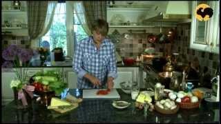 Суп из зелёного горошка с креветками.На кухне у Марты 10