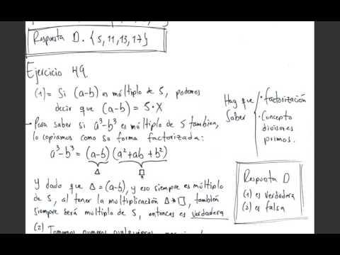 Examen de Admisión Universidad Nacional - Matemáticas