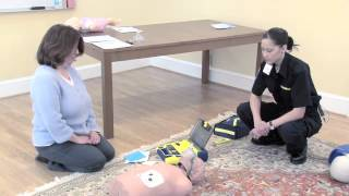 CPR/AED Heartsavers Course. Trainer is Kuo Rees, for Cardiac Life P...