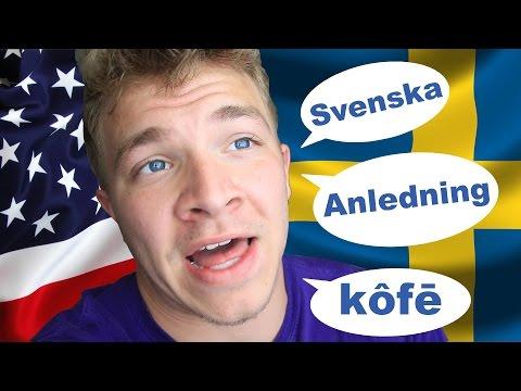 American Tries To Speak Swedish | Ft. ManfredErlandsson