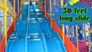 Indoor Playground Family Fun for Kids Play Center Slides Playroom with Balls  | TheChildhoodLife