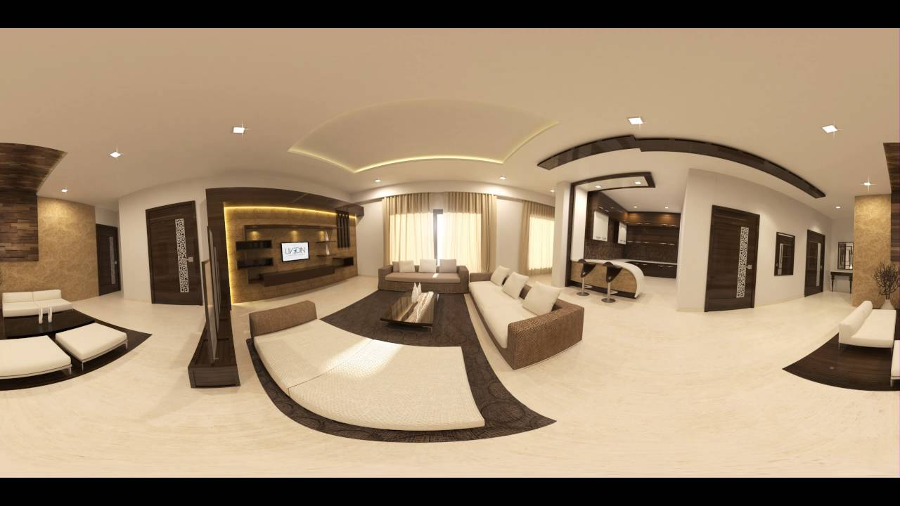 Living room 360 vr 3d interior design youtube for 3d room design mac