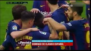 Este domingo se juega el súper clásico español entre Barcelona y Real Madrid