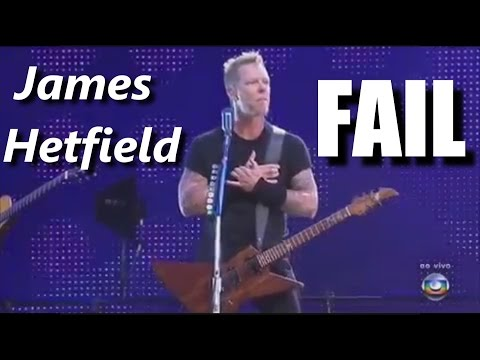 James Hetfield FAIL ┃RockStar FAIL