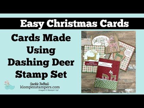 4 Christmas Cards Made With Dashing Deer