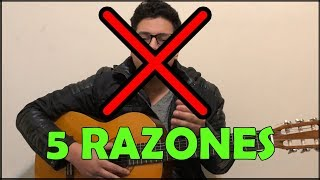 5 razones por la que sigues tocando mal la guitarra