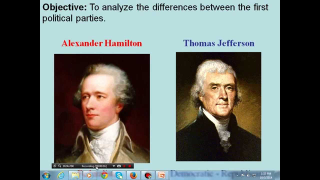 comparison between jefferson and hamilton Comparison between jefferson and hamilton essay sample simple suspicion and a clash of political ideology led to the first division within a united party this party was originally united under one common cause- the freedom of a new and growing nation.
