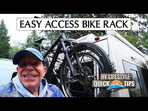 Easy Access/Stow Bike Rack | RV Quick Tips