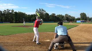 SEAN LYNCH 2018 BATTING HIGHLIGHTS MONROE WOODBURY HIGH SCHOOL AND CRUSADERS BASEBALL CLUB