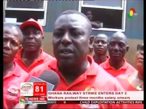 Ghana Railway on strike over 3 months salary arrears - 15/9/2016