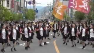 青森県弘前市で毎年6月頃行われる「よさこい津軽」に 弘前厚生学院保育...