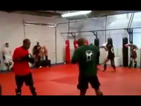 Muay Thai Red Shirt Test Round 2   American Top Team Longwood FL