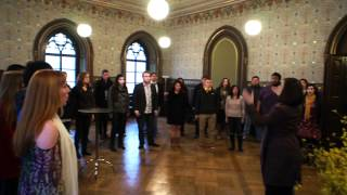 The Biola University Chorale at the Rathaus in Weimar